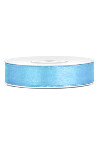 Satijn Lint Licht Blauw - 12 mm x 25 mtr