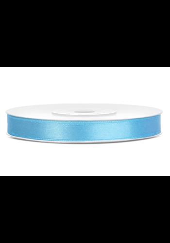 Satijn Lint Licht Blauw - 6 mm / 25 mtr