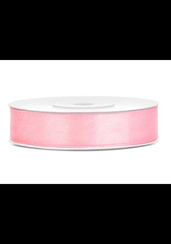 Satijn Lint Licht Roze - 12 mm x 25 mtr