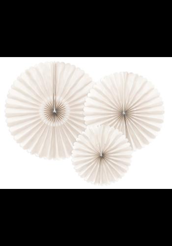 Decoratieve Rozetten Beige - 3st