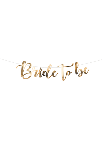 Banner Bride To Be Goud - 80x19cm