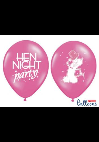 Ballonnen Hen night party - 30cm - 6 st
