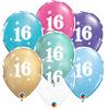 Qualatex Helium Ballon 16 jaar