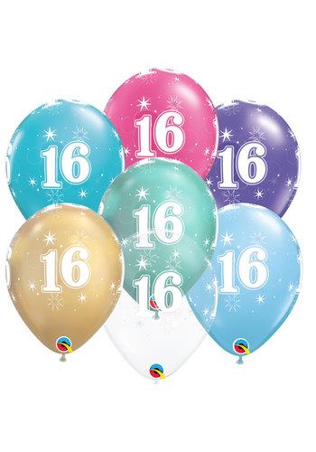 Helium Ballon 16 jaar (28cm)