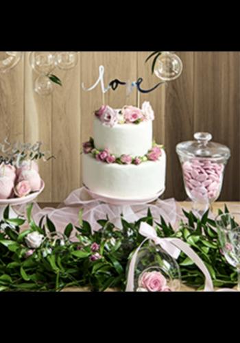"Cake Prikker ""Love"" - 17cm - Zilver"