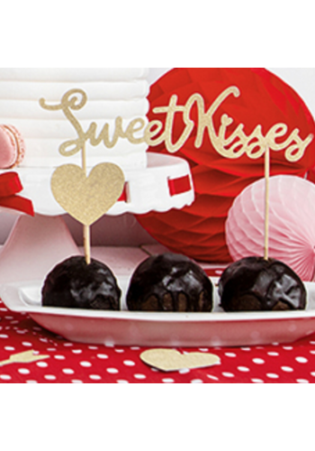 Taart topper Sweet Love - Sweet Kisses
