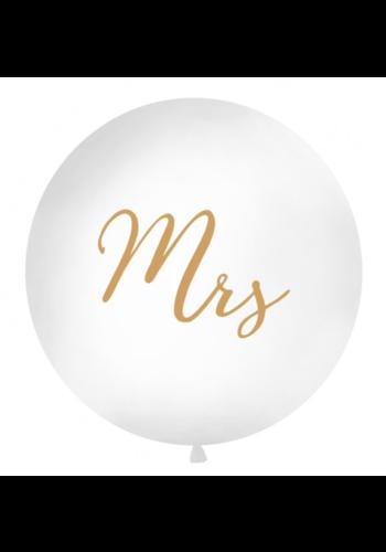 Mega Ballon Mrs - Goud - 1 mtr