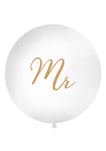 Mega Ballon Mr - Goud - 1 mtr