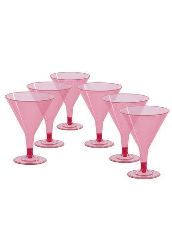 Plastic cocktailglazen - 6 st - 12,5cm
