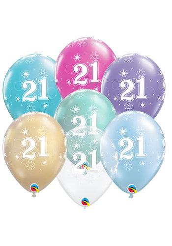 Helium Ballon 21 jaar (28cm)