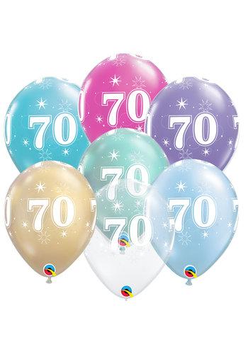 Helium Ballon 70 jaar (28cm)