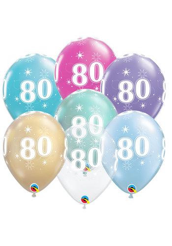 Helium Ballon 80 jaar (28cm)