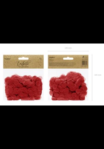 Confetti Zijde Papier - Rood - 15 gr - 16mm
