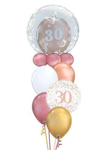 Doubble Buble Leeftijd Balloon Set Rosé Gold