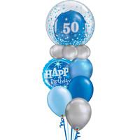 Happy Birthday Blue Balloon Set