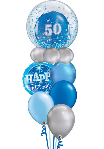 Happy Birthday Blue Balloon Set