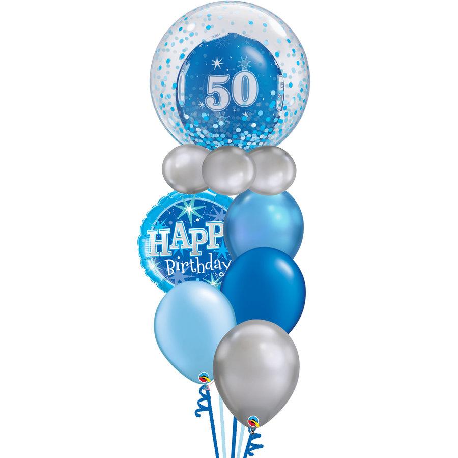 Happy Birthday Blue Balloon Set-1