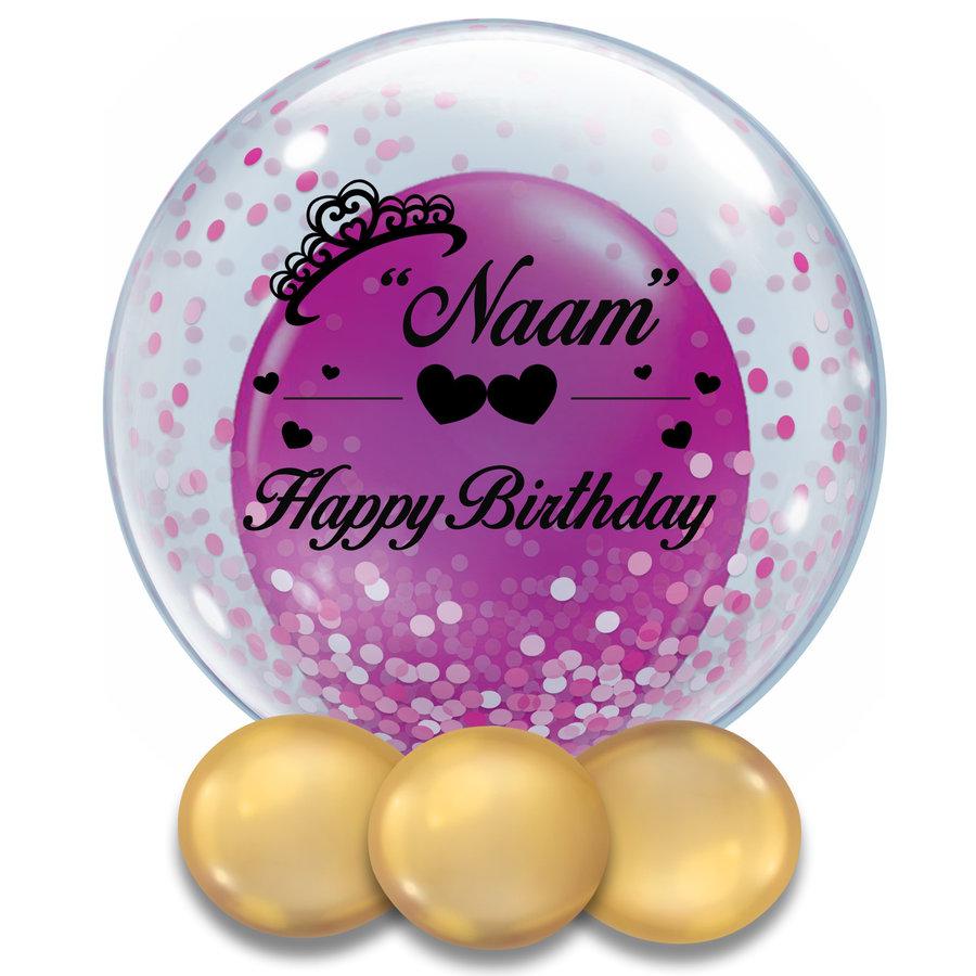 Bedrukte Ballon - Happy Birthday Girl-2
