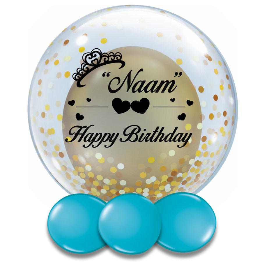 Bedrukte Ballon - Happy Birthday Girl-3