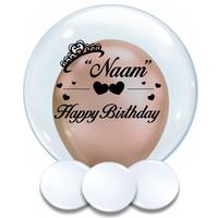 thumb-Bedrukte Ballon - Happy Birthday Girl-1