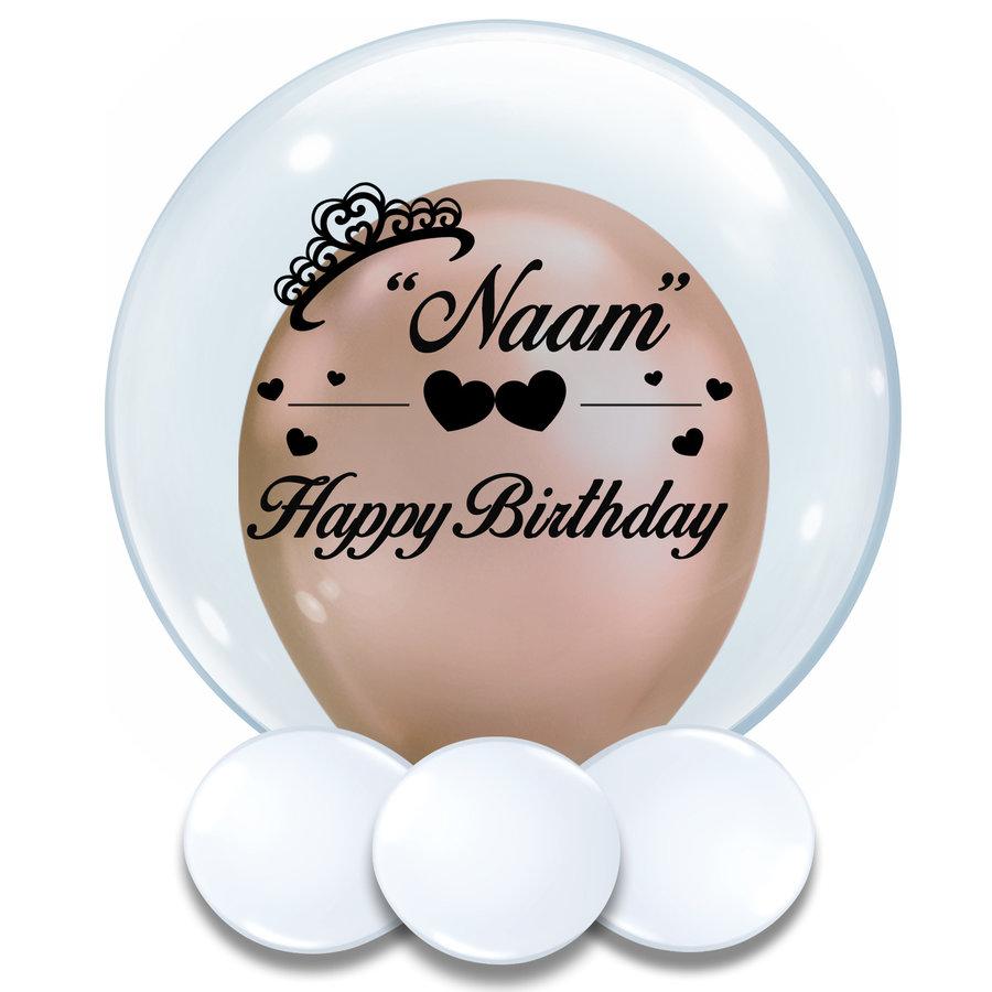 Bedrukte Ballon - Happy Birthday Girl-1