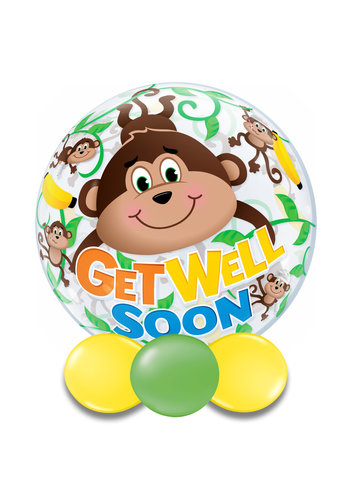 Bubble Get Well Soon Monkey