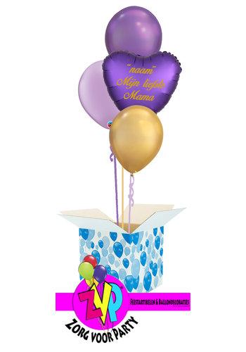 Moederdag Set Purple Met Eigen Naam