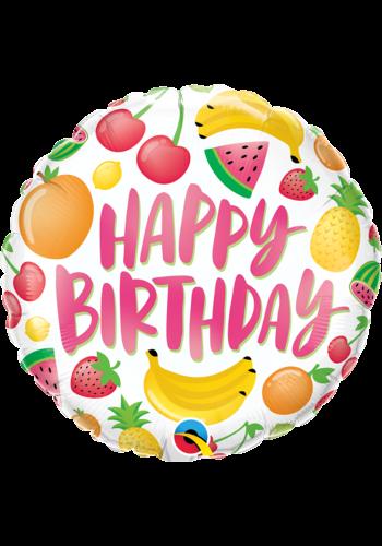 Folieballon Happy Birthday Fruits