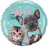 Qualatex Folieballon Party Time Pets