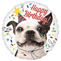 Folieballon Happy Birthday Dog
