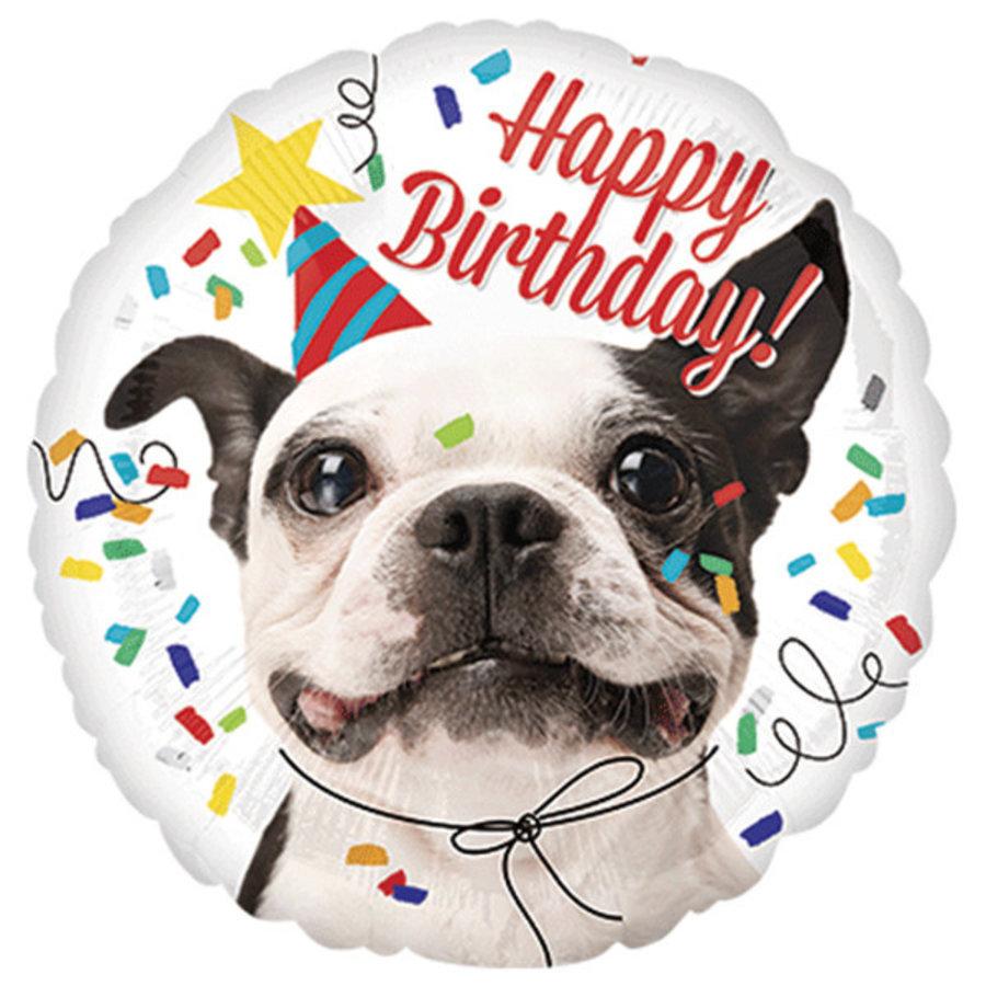 Folieballon Happy Birthday Dog-1