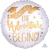 Anagram Folieballon The Adventure Begins White