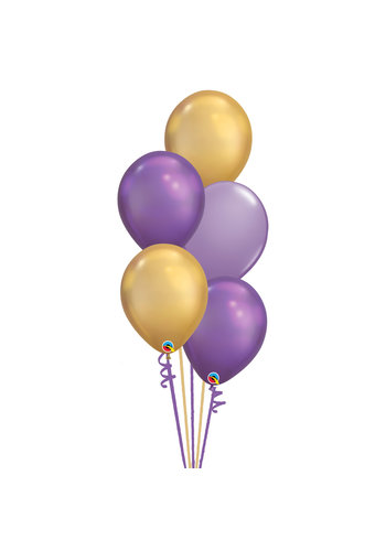 Staander Aladdin - 5 Heliumballonnen