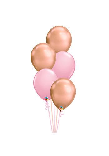 Staander Sweet Pink - 5 Heliumballonnen