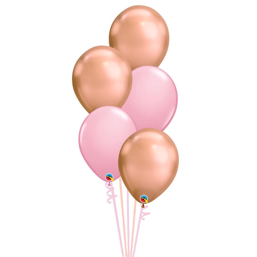 Staander Sweet Pink - 5 Heliumballonnen-1