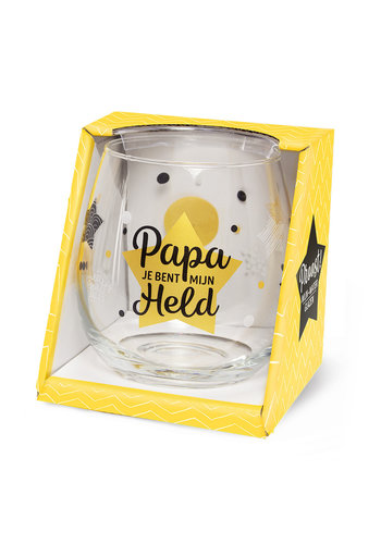 Glas Proost - Papa je bent mijn held