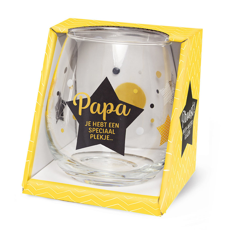 Glas Proost - Papa je hebt een speciaal plekje-1