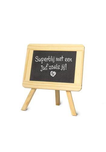 Schoolbordje - Superblij met een juf zoals jij!