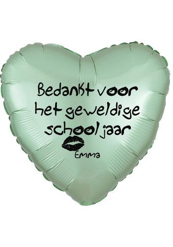 Folieballon Bedankt voor het schooljaar - Met Naam