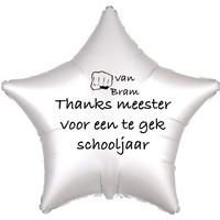 thumb-Folieballon Thanks meester voor een te gek schooljaar - Met Naam-1