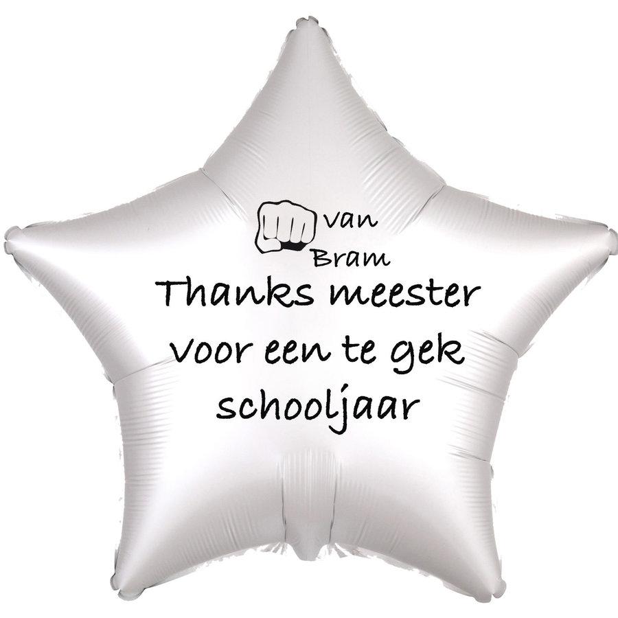 Folieballon Thanks meester voor een te gek schooljaar - Met Naam-1