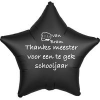 thumb-Folieballon Thanks meester voor een te gek schooljaar - Met Naam-2
