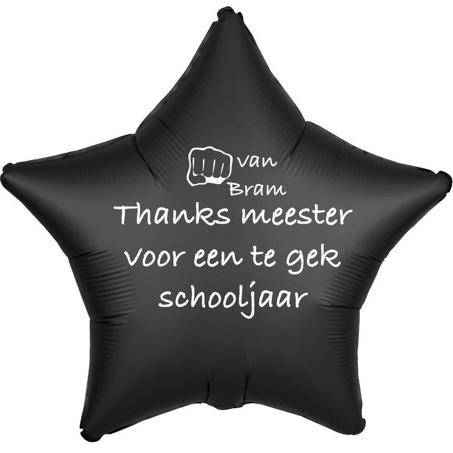 Folieballon Thanks meester voor een te gek schooljaar - Met Naam-2