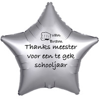 thumb-Folieballon Thanks meester voor een te gek schooljaar - Met Naam-3