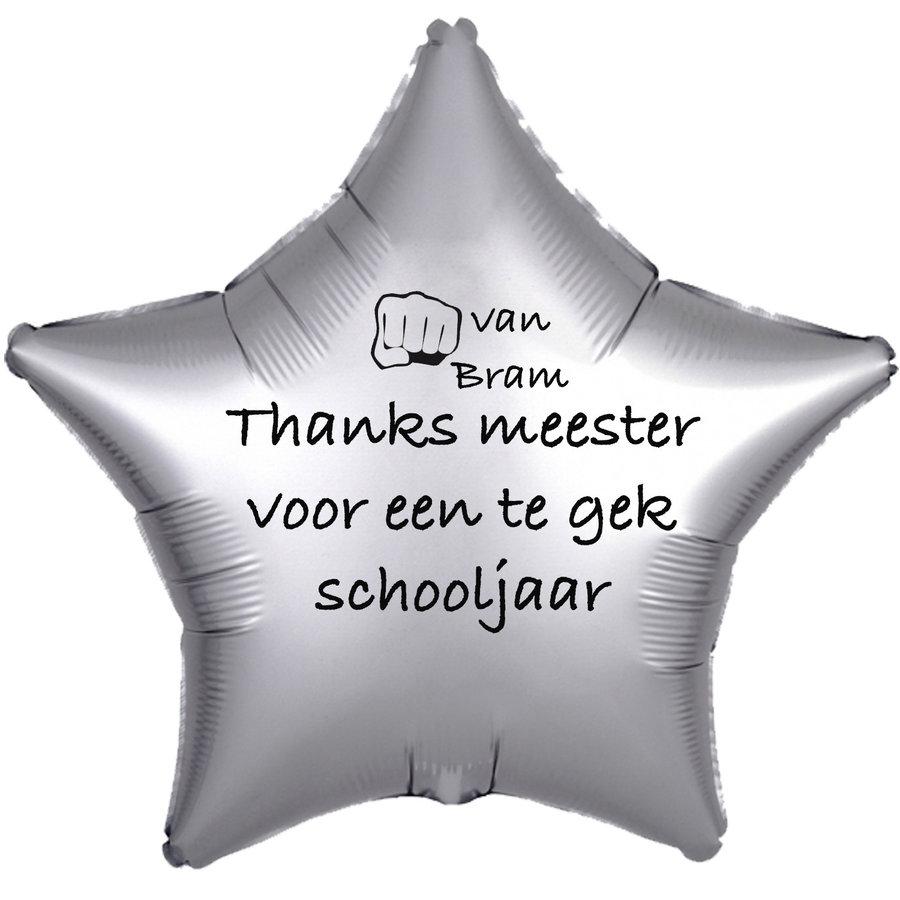 Folieballon Thanks meester voor een te gek schooljaar - Met Naam-3