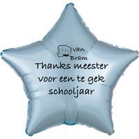 thumb-Folieballon Thanks meester voor een te gek schooljaar - Met Naam-4