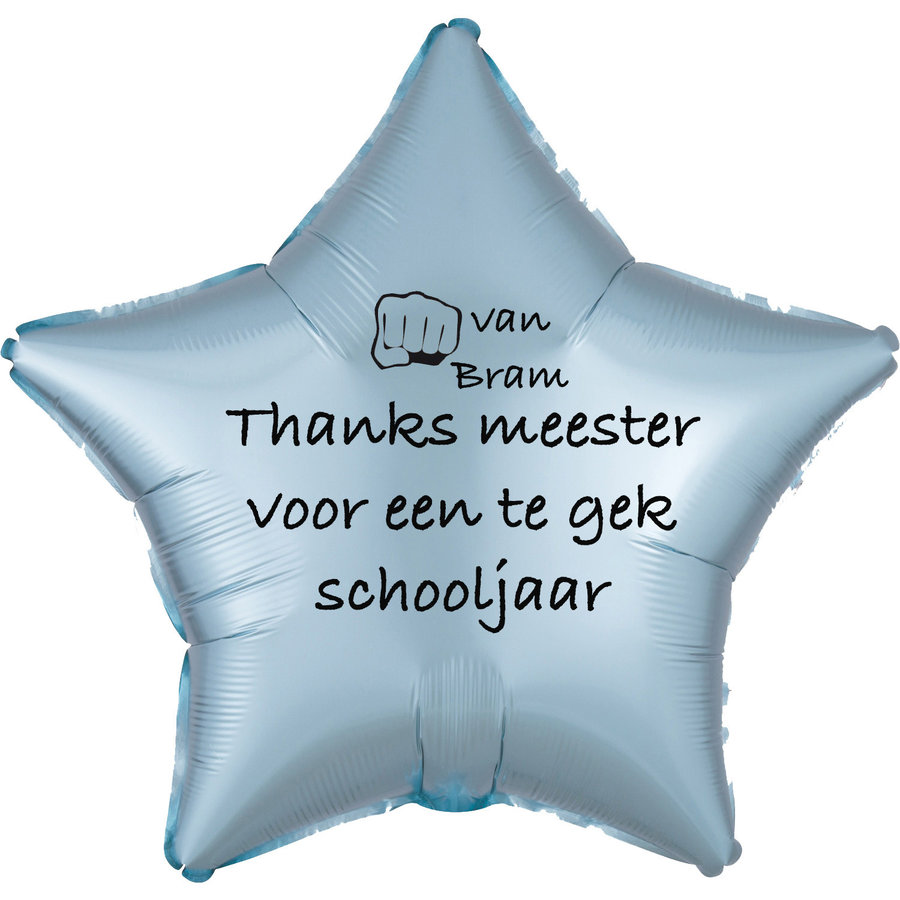 Folieballon Thanks meester voor een te gek schooljaar - Met Naam-4