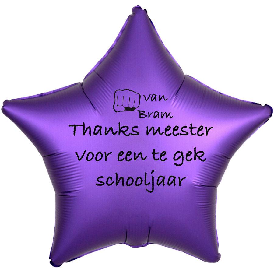 Folieballon Thanks meester voor een te gek schooljaar - Met Naam-6