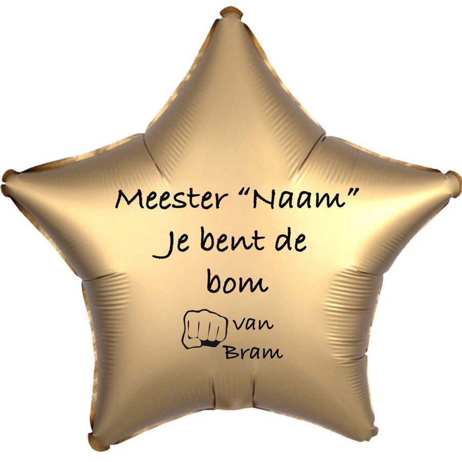 Folieballon Meester je bent de bom - Met Naam-2