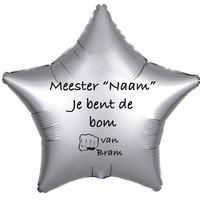 thumb-Folieballon Meester je bent de bom - Met Naam-3